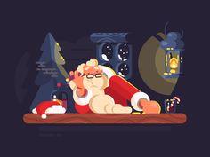 Bad Santa by Anton Fritsler (kit8) #Design Popular #Dribbble #shots