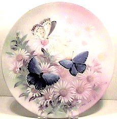 1989 ,Lena Liu Butterfly Collector's Plate,Eastern Tailed Blue
