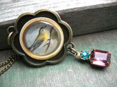 Song Bird Necklace/Nature/Bird/Winter/Boho/Victorian/Woodland by TheOmbrePoodle on Etsy