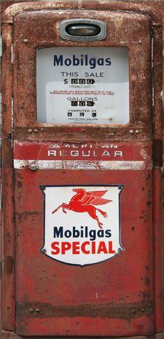 Mobilgas Special red rust Gas pump Refrigerator wrap sticker