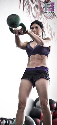Lauren Brooks kettlebell abs