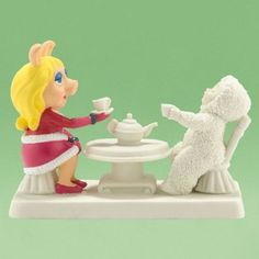 Amazon.com: Department 56 Snowbabies The Muppets Miss Piggy Come To Tea 2012: Home & Kitchen