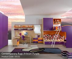 Accecories and Furniture,Wonderful Kids Bedroom Design With Amazing Wallpaper Background Featuring Computer Table Set And Blaster Cabinet With Purple Under Drawer Bed,Captivating Kids Bunk Beds Furniture Design For Bedroom Teenage Girl Bedrooms, Girls Bedroom, Bedroom Decor, Bedroom Furniture, Bedroom Ideas, Bedroom Inspiration, Childrens Bedroom, Design Inspiration, Design Ideas