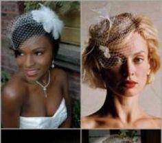 short hair wedding hairstyles with birdcage veil | Birdcage Veils & Blusher Face Veils | Wedding Veils | Birdcage Veils