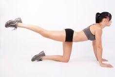 Haciendo ejercicios para glúteos