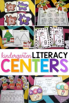 This amazing bundle of literacy centers lets students sort beginning sounds, differentiate between blends and sound out CVC words! It's packed with great activities for each work station from beginning of the year to the end! #handson #organization