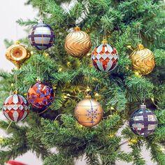 8cm wald bronze und blau bruchsicher weihnachtsbaumschmuck