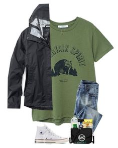 A fashion look from January 2018 featuring t shirts, breathable rain jacket and blue ripped jeans. Browse and shop related looks. Jean Outfits, Casual Outfits, Cute Outfits, Fashion Outfits, Womens Fashion, Cold Day Outfits, Relaxed Outfit, Buy Dress, Summer Wardrobe