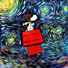 Snoopy Meets Van Gogh in these fan art prints and gallery wraps by Aya. Get them for your collection via CollectPeanuts.com.