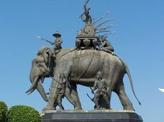 Queen Suriyothai War Elephant Statue