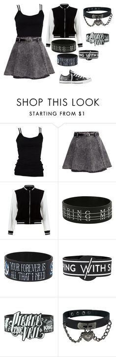 """Untitled #412"" by girl-in-love-m ❤ liked on Polyvore featuring Skin and Threads, H&M, New Look and Converse"