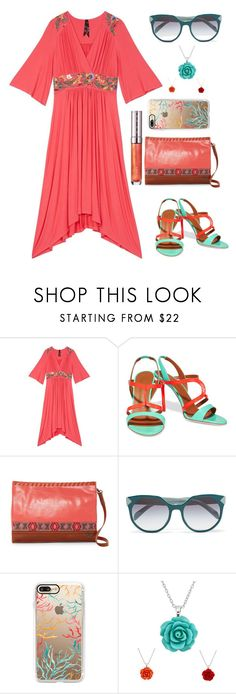 """Untitled #5078"" by im-karla-with-a-k ❤ liked on Polyvore featuring Melissa McCarthy Seven7, Malone Souliers, The Sak, Prada, Casetify and plus size dresses"