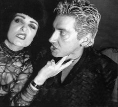 Siouxsie Sioux and Budgie