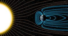 'Magnetic' Discovery May Reveal Why Earth Supports Life and Mars Doesn't. An illustration of how Earth's magnetic field protects the planet from solar radiation.Credit: Michael Osadciw/University of Rochester Science News, Science And Technology, Earth Science, Science And Nature, Earth's Magnetic Field, University Of Rochester, Plate Tectonics, Our Solar System, Astrophysics
