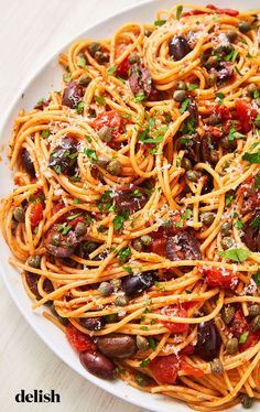 Pasta Puttanesca Has The Most Fragrant Sauce EverDelish pasta pasta pasta pasta bake recipes rezepte sauce Healthy Pasta Recipes, Healthy Pastas, Vegetarian Recipes, Cooking Recipes, Shrimp Recipes, Olive Pasta Recipes, Salad Recipes, Chicken Recipes, Healthy Dishes