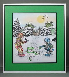 Jayne Nestorenko's Winter Scenes stamps by Claritystamp.
