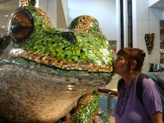 frog mosaic at Sydney Airport