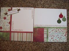 Set of 4 Double Page Scrapbook Layout Kits 12 by Diamond4boutique, $16.00