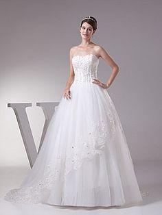 Reane - Бальное платье Атласная свадебном платье с Аппликации - RUB 14335,89руб.