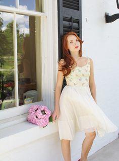 Vintage 50s Wedding Dress / Short Wedding Dress / by aiseirigh, $212.00