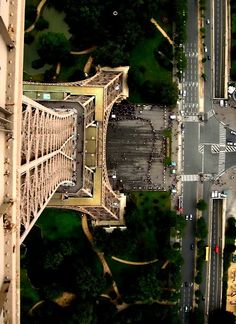 View from the top of the Eiffel Tower. - and this is why I'll only ever see it from the bottom.