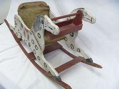 Antique Shoofly Rocker Rocking Horse Primitive Wood Childs Toy Shoo Fly Shoe Fly | eBay