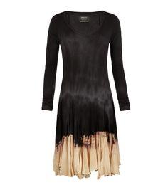 Long sleeve bleached dip dye