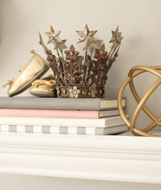 and White: Peach and Gray Nursery Reveal Royal Nursery, Girl Nursery, Chip And Joanna Gaines, Decoration, Baby Room, Kids Room, Projects To Try, Peach, Browning