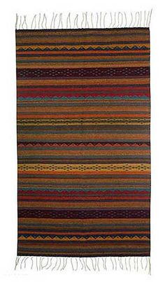 Each original piece goes through a certification process to guarantee best value and premium quality. Native American Rugs, Native American Patterns, Wool Area Rugs, Wool Rug, Cotton Rugs, Striped Rug, Kilims, Tapestry Weaving, Weaving Techniques
