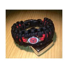 Anime Naruto Sharingan Paracord Bracelet 7 Inches ($15) ❤ liked on Polyvore featuring jewelry, bracelets and animal jewelry