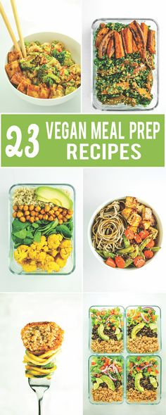 Vegan meals 558446422539403758 - BEST Vegan Meal Prep Roundup – Burrito bowls, lettuce wraps, breakfast burritos, salads, etc. A few side dish ideas are included too – good for adding to your favorite grain + protein combo! Vegetarian Meal Prep, Vegan Meal Plans, Healthy Meal Prep, Vegetarian Recipes, Meal Prep For Vegetarians, Diet Prep Meals, Healthy Dinners, Protein For Vegetarians, Raw Vegan Diet Plan