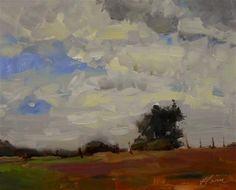 "Daily Paintworks - ""Farm Sky"" - Original Fine Art for Sale - © Kelli Folsom"