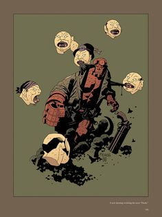 Hellboy by Mike Mignola. I really like all of the mythology in the Hellboy, B.P.R.D., and Abe Sapien comics.