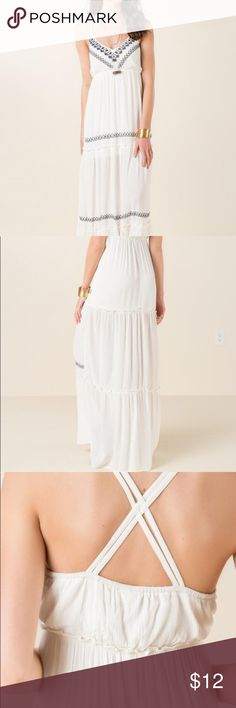 francesca's white maxi dress never worn, but no tags. basically exactly as pictured Francesca's Collections Dresses Maxi