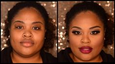 How to Highlight and Contour for round faces. Great for African American / Black skin tones.