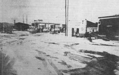 Gasolinera en Morelos Nte. Granizada en 1969,
