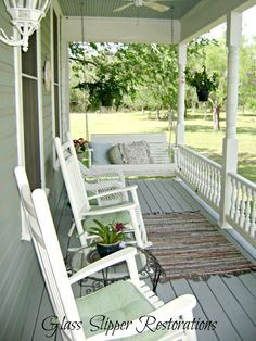AMAZING porch makeover! You need to see the before and the other pictures :)