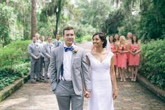 Megan & Jarred 's Summer Wedding at Maclay Gardens| Photo by: The Black & Hue Project