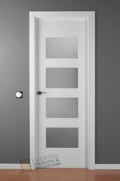 Puerta maciza lacada completa a falta de manilla con - Puertas acorazadas precios ...