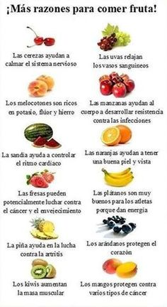 Más razones para comer #frutas #salud