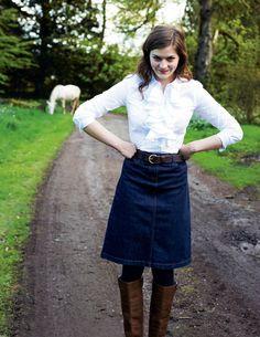 25 grown up ways to wear a denim skirt