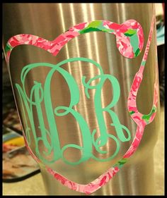 Monogram Decal, Nurse,Doctor, Nurse Practitioner, RN, LVN, LPN,Personalized,Cooler,Yeti, Laptop,Monogram Sticker,…