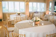 """90"""" x 15"""" Inch Burlap Table Runners (Fit 5ft Round Tables) - The Rustic Chic Boutique #rusticchicweddings"""