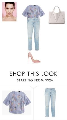 """""""Sans titre #8860"""" by ghilini-l-roquecoquille ❤ liked on Polyvore featuring J.Crew, Current/Elliott and Christian Louboutin"""