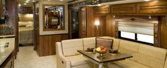 Cabin looking aft. Credit: Fleetwood RV Inc
