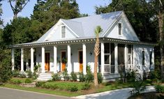 New orleans Style House Plans with Courtyard Awesome Creole Cottage House Plans Awesome Home Design Acadian for Low Country Homes, French Country Cottage, Coastal Cottage, Country Style, Seaside Style, Country Cottages, Cottage Living, Coastal Homes, Coastal Country