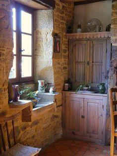 Restored stone house with two gites and a pool in a pretty hamlet Lounge, French Property, Beaux Villages, Stone Houses, Double Vanity, Property For Sale, Restoration, France, Pretty
