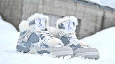 Air Jordan 4 Snow Sniper Custom