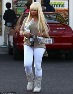 blac chyna pearl studded boots