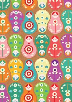 Russian Dolls wallpaper